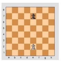 Chess Game Pawn vs Pawn 2