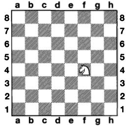 Knight on the chessboard