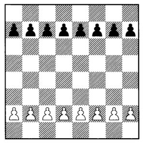 Pawns starting position